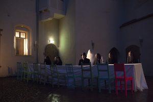 Ensemble Foto, des Sommertheaters Dessau-Rosslau auf der Wasserburg Rosslau