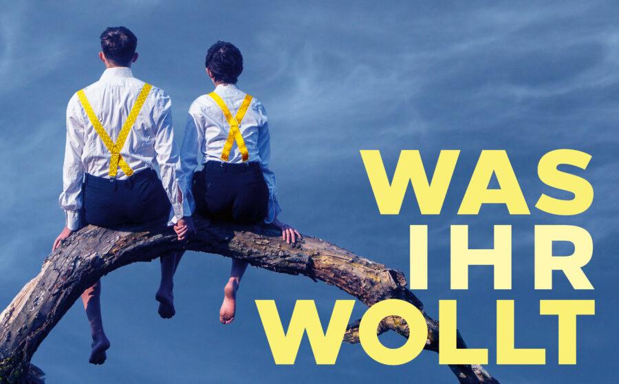 """Plakat """"Was Ihr Wollt"""" mit Jona Hansen und Lioba Biehler im Sommertheater Dessau-Rosslau"""