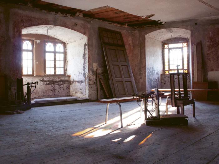 Innenraum Burg Roßlau