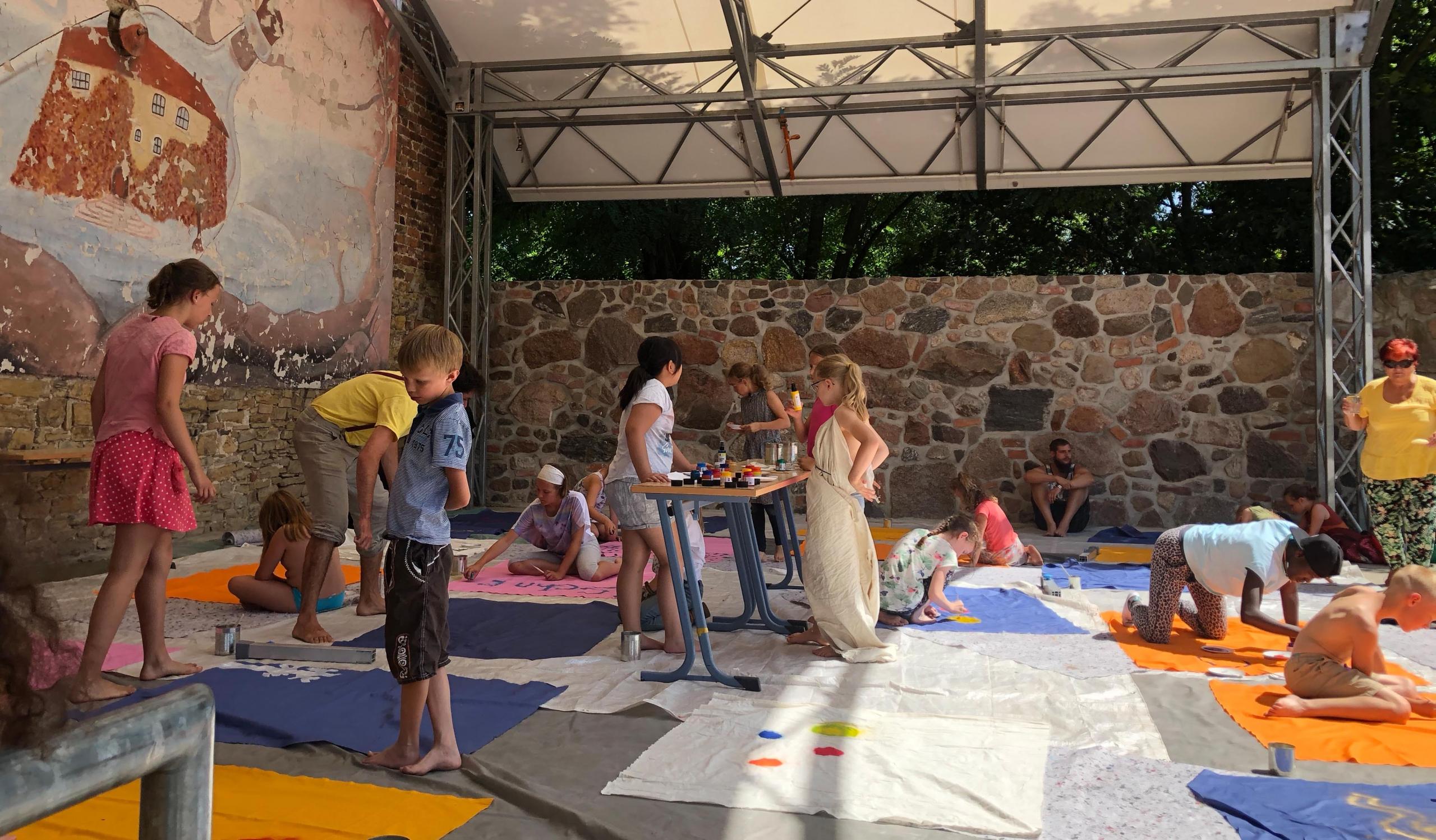 Kinder Theater Workshop auf Burg Rosslau