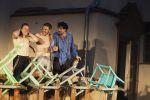 """Die Schauspieler Marian Schäfer, Jan Gugel, Stephan Sitaras in """"Peer Gynt"""" des Sommertheaters Dessau-Rosslau auf der Wasserburg Rosslau"""