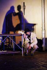 """Der Schauspieler Stephan Sitaras in """"Peer Gynt"""" des Sommertheaters Dessau-Rosslau auf der Wasserburg Rosslau"""